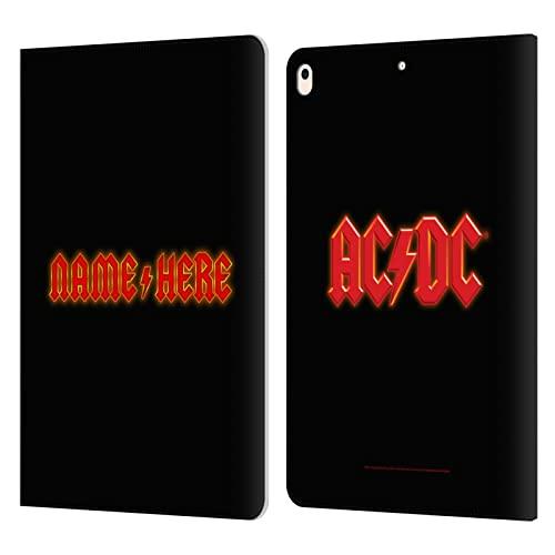 Head Case Designs Officially Licensed Custom Customised Personalised AC/DC ACDC Tipografía Moderna Arte Carcasa de Cuero Tipo Libro Compatible con Apple iPad Air (2019)