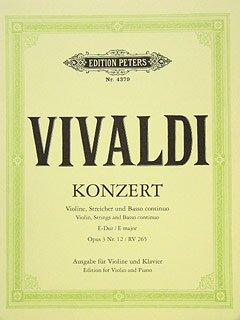 CONCERTO GROSSO E-DUR OP 3/12 RV 265 F 1/179 T 417 - VL STR BC - gearrangeerd voor viool - piano [Noten / Sheetmusic] Componis: VIVALDI ANTONIO