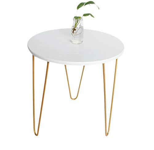 YWXCJ Tavolini da caffè Pequeña Mesa Redonda de Hierro Forjado, Mini Simple, Moderna, Mesa de Centro, Mesa de sofá, Lado tavolini di piccole dimensioni (Size : 40x51cm)