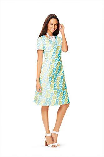 Burda 6627 Schnittmuster Ausgestelltes Kleid mit Teilungsnähten (Damen, Gr. 34-44)