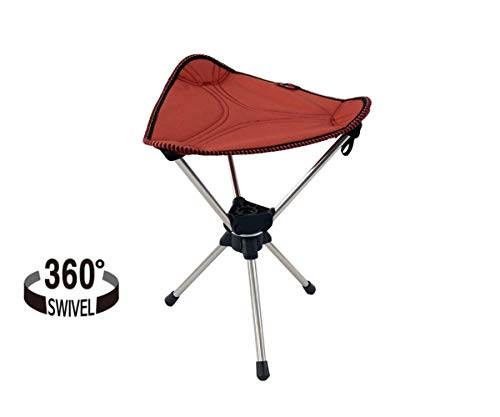 TALON - Premium Camping Stool Tripod Folding Chair, 360-Degree Swivel by Patent Technology, Portable Super Compact for Camp, Fishing, Hunting, Travel, Hiking, Lightweight Capacity up to 330lbs/150kg