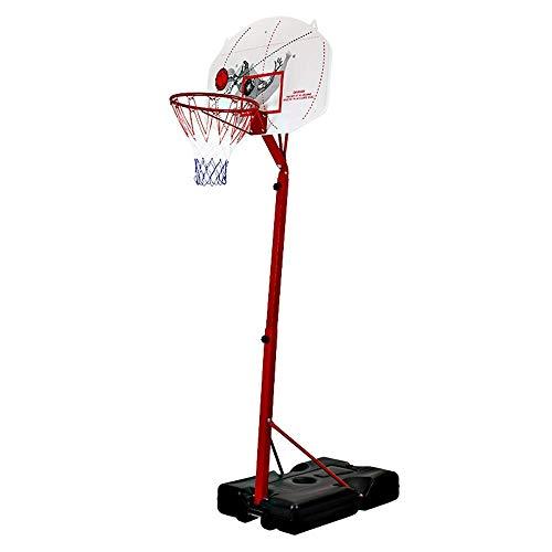 Tragbare Basketballkorb-System Höhenverstellbarer Basketballkorb mit Stabiler Basis und Räder for Kinder Jugend Erwachsene Indoor Outdoor Spiele Basketball Training ZHNGHENG