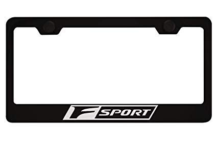 Qptimum Black F-Sport Racing Stainless Steel License Plate Frame Cover For Lexus F Sport (1)