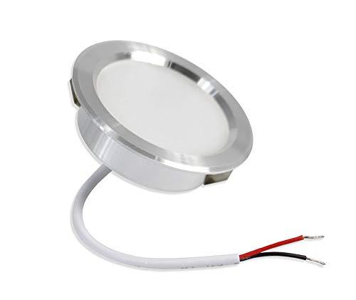 Vetrineinrete® Faretto led 3 watt ad incasso rotondo luce fredda 6500 k luce calda 3000 k luce naturale 4000 k opaco con bordo argento (Luce bianca 6500k) A93