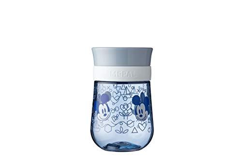 Mepal Mio – Bicchiere per imparare a bere a 360° – Mickey Mouse – Bicchiere per imparare a bere dai 9 mesi – A prova di perdite – Lavabile in lavastoviglie