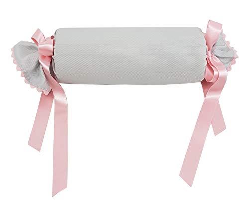 Cojín antivuelco o caramelo para bebé recién nacido (Gris/Rosa)
