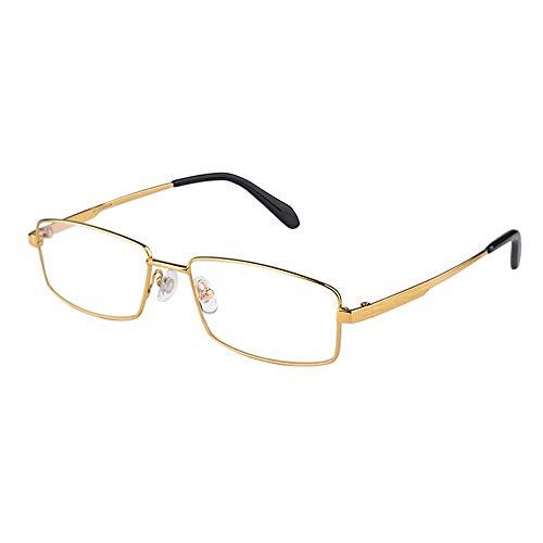 Gafas De Lectura De Alta Definición Con Bloqueo De Luz Azul, Lentes De Resina Antifatiga Antirradiación Para Hombres Y Gafas De Negocios De Montura Completa De Titanio Puro Ultraligero