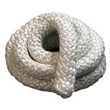 1 inch Woodstove Gasket Rope, Door Gasket, Round Fiberglass Rope Seal (8 Feet)
