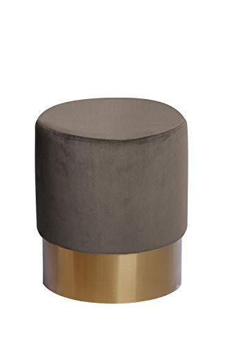 Samt Hocker Pouf Velvet Retro Sitzhocker Polsterhocker Gold Beige Taupe Braun