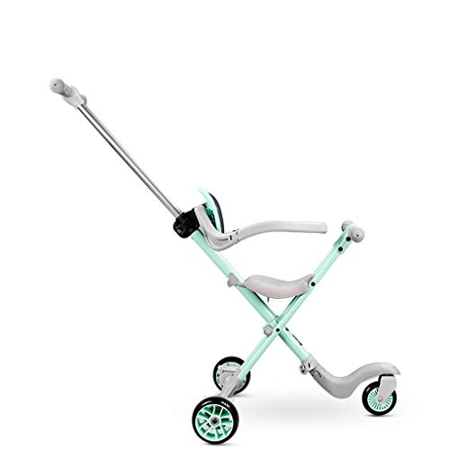 Passeggini Passeggino Leggero Passeggino Passeggino Portatile con Freni e Sistema di Sicurezza per i più Piccoli di 1-6 Anni Carrozzina (Color : Green)