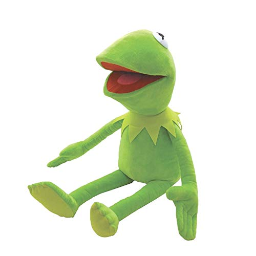yskcsry Peluche Kermit De Barrio Sésamo, 40 Cm, Adorable Marioneta De Rana, Marioneta De Mano The Muppet Show