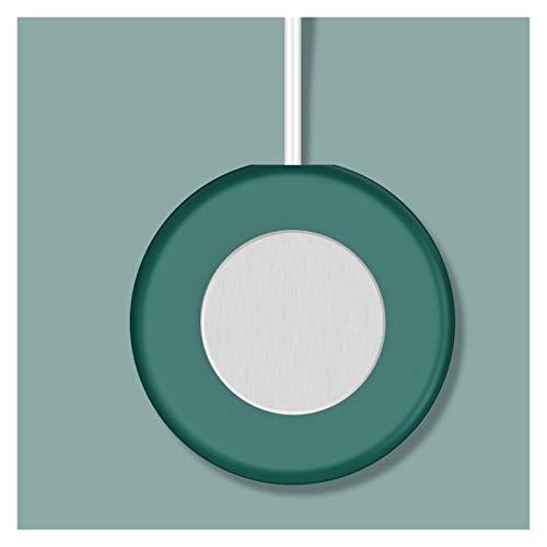 JJH Taza de café Calentador, Calentador automático eléctrico de 10 vatios, calefacción automática, montaña termostática para Oficina de Oficina (Color : Blackish Green)