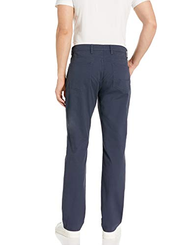 Goodthreads 5-Pocket Chino Pant Slip, Bleu (Navy), W34/L32 (Taille fabricant: 34W x 32L)