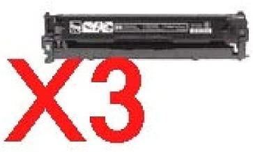 3 x Compatible HP CB540A Black Toner Cartridge 125A