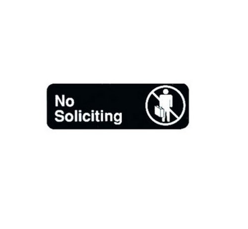 No Soliciting Sign | For Commerical Use | Restraunts, Hotels, Businesses