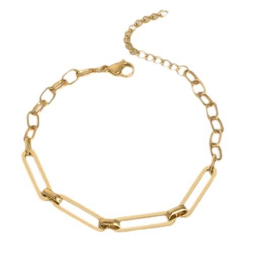 Pulseras, pulsera gótica, oro chapado en oro de 14 k, diseño mínimamente, pueden servir como un regalo para la novia