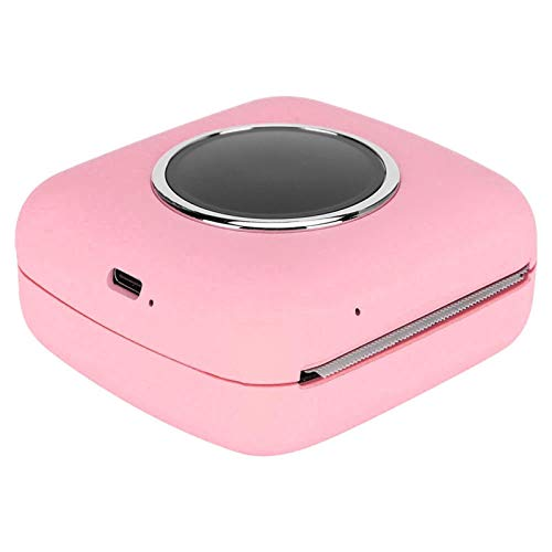 Portable Camera Printer HD Mini Printer Thermal Printer, Printer, for Text Extraction Banner Printing Voice Prompts Picture Printing(Pink)