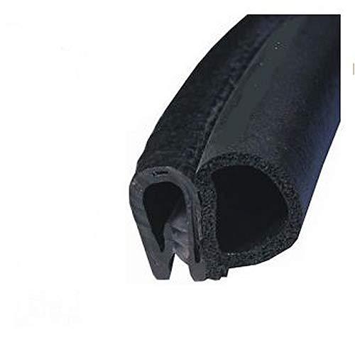 EUTRAS Dichtungsprofil KSD2052 Türgummi Kofferraumdichtung – Klemmbereich 2,0 – 4,0 mm - schwarz - 5 m