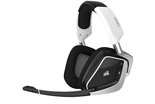 Corsair Gaming VOID RGB Elite Wireless Premium Gaming Headset with 7.1 Surround Sound, White (Renewed) Headsets