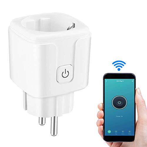 Presa intelligente WiFi,Mini Smart Plug 16A con Energy Monitor Funzione Timer, App Controllo Remoto,Compatibile con Alexa Amazon, Google Home, Certificato CE & ROHS