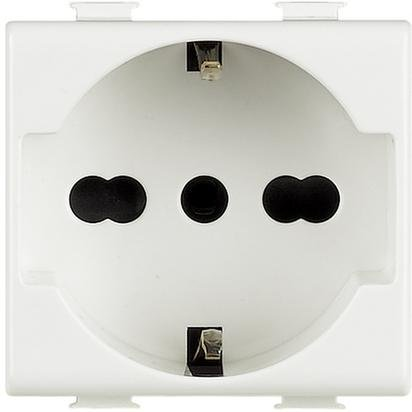 Presa Elettrica Matix Compatibile | Presa Schuko Tedesca 16A Compatibile Con AM5440 Matix (Presa Schuko)