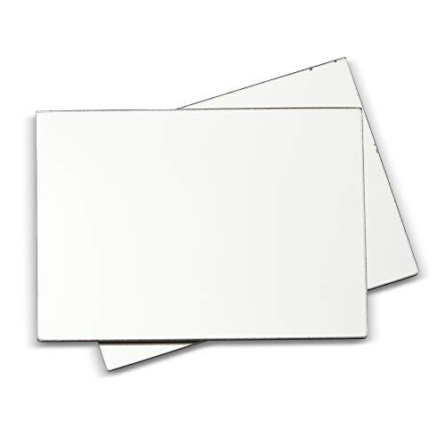 Juvale Magnetischer Spindspiegel, 12,7 x 17,8 cm, 2 Stück