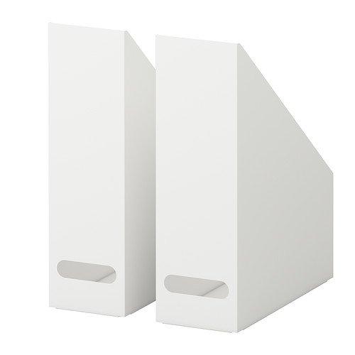 IKEA KVISSLE Zeitschriftensammler Stehsammler weiß Metall 2 Stück