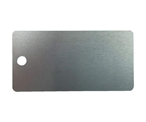 IM 刻印用アルミプレート 20×40×0.8 1-φ3 4-R2 10枚入 AL-204H1 アルミプレート