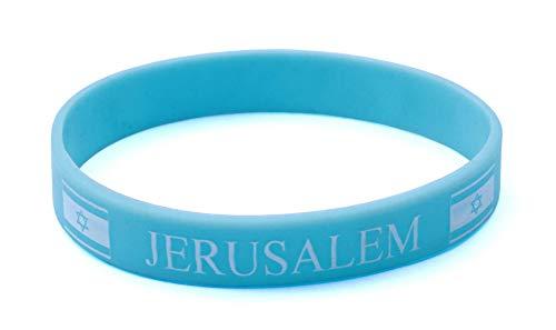 Sky Jerusalem Siliconen pols krachtige rubberen armband karma Israël Bangle cadeau