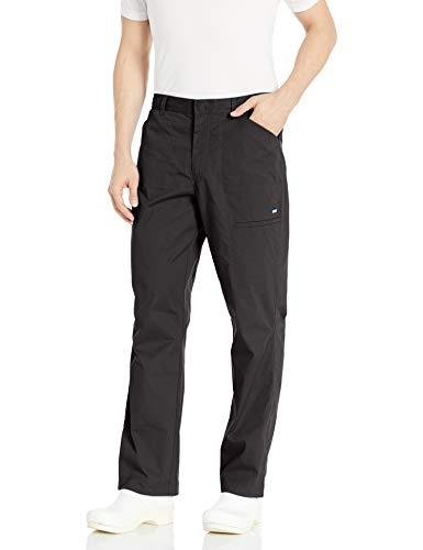 Landau Men's Durable Stretch 3-Pocket Cargo Scrub Pant with Belt Loops, Black, Large