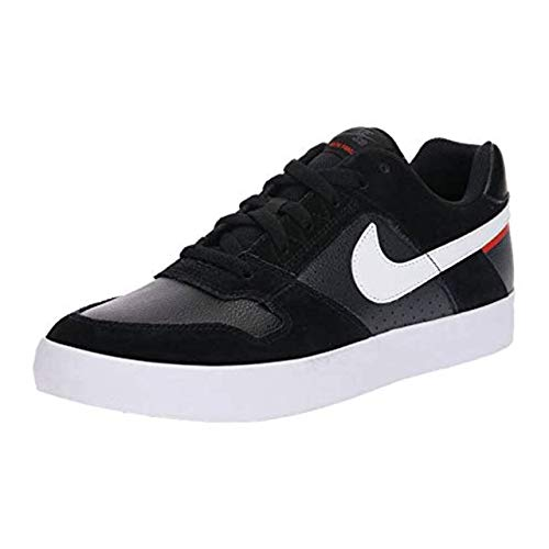 Nike SB Delta Force Vulc, Zapatillas de Skateboarding Unisex Adulto, Multicolor (Black/White/Habanero Red 011), 45.5 EU