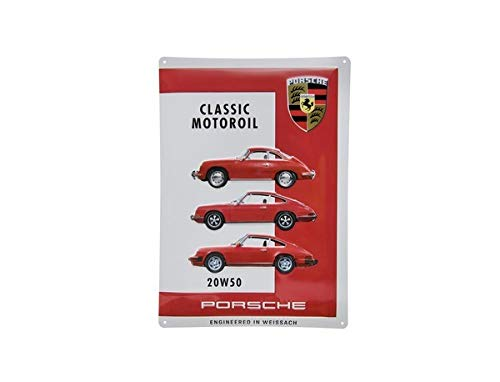 ORIG. Porsche Classic Blechschild/metal plate Motoröl/Motoroil 20W50 400x280mm