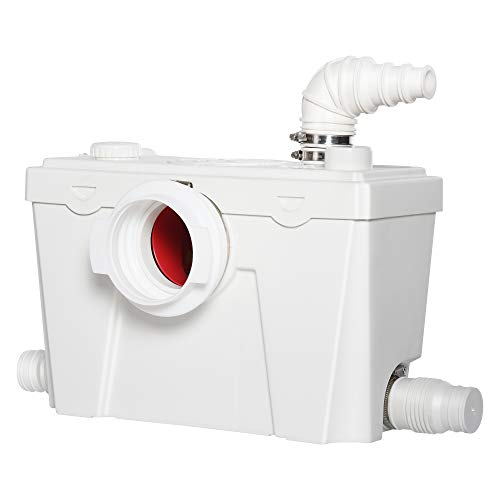 HOMCOM Hebeanlage Abwasserpumpe Fäkalienpumpe Haushaltspumpe für WC Dusche, 500W, 40 x 17 x 28 cm
