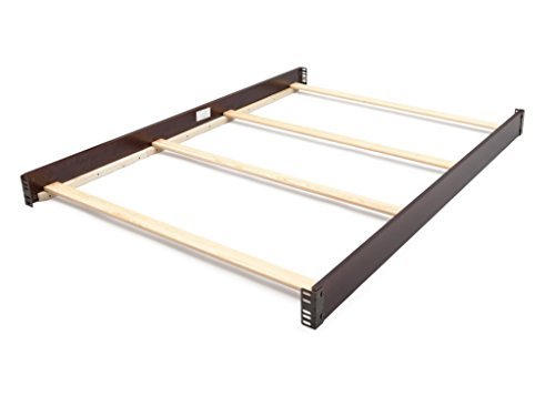 Full Size Conversion Kit Bed Rails for Delta Children Cribs (Black Cherry Espresso)