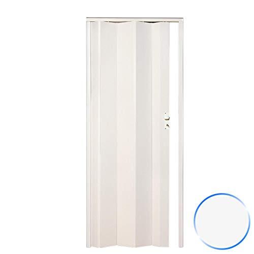 Innenraum Falttür in PVC Pastel Weiß 83x214 cm mod. Maya