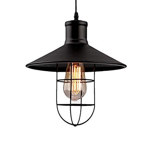 Iluminacion colgante Lámpara colgante industrial Luces retro Industria Lámparas de techo de luz (sin bombilla) Múltiples tamaños disponibles luces pendientes Sistemas de Iluminación (200-240) (Interfa