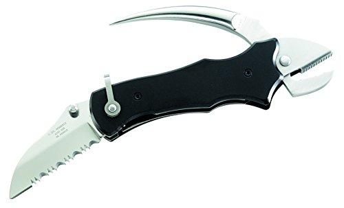 Herbertz Messer Seglermesser Zange und Marlspieker Länge geöffnet: 18.0cm, grau, M