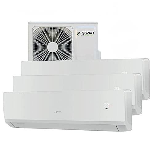 Climatizzatore inverter trial split GREEN ELECTRIC 12000 + 12000 + 12000 btu R32 A++/A+ WIFI integrato