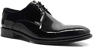 Hakiki Deri Siyah Rugan Bağcıklı Klasik Erkek Ayakkabı