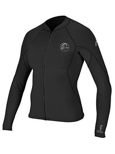 O'Neill Womens Bahia 2/1mm Full Zip Wetsuit Jacket 18 Tall Black (4838IS)