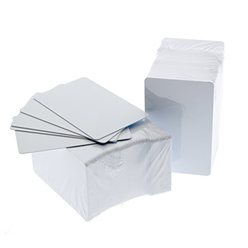 Bulk 1000 Pack - Premium Blank PVC Cards for ID Badge Printers - Graphic Quality White Plastic CR80 30 Mil (CR8030) by Specialist ID - Compatible with Most Photo ID Badge Printers (White)