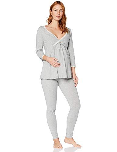 Iris & Lilly Pijama de Felpa Mujer, gris, 3XL, Label: 3XL