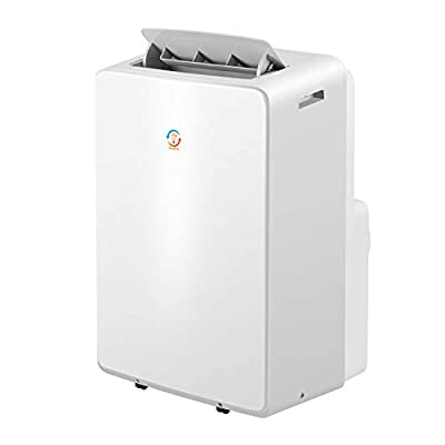 fam famgzizmo 12000BTU 4-in-1 Portable Air Conditioner(Cooling,fan,Dehumidifier, Sleep Mode) with Remote Control and window seal kit, 3 Fan Speed Options,24H Timer for Home and Office