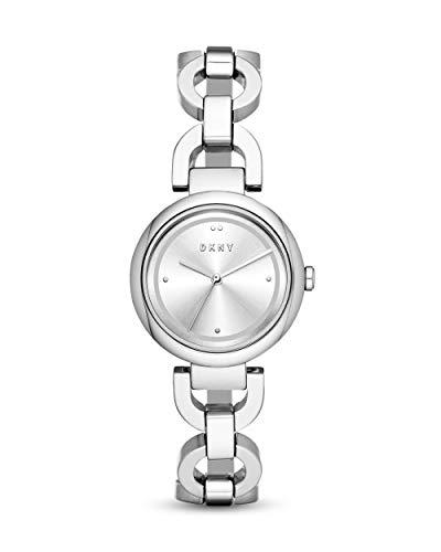 DKNY Damen-Uhren Analog Quarz One Size Silber Edelstahl 32003416