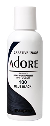 Adore Glänzende semi-permanente Haarfarbe, 130 Blau-Schwarz