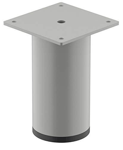 Gedotec Pie para muebles de diseño, patas de metal para mesa de café, Romeo, patas de tubo de acero con altura de 80 mm, pie para armario de muebles, soporte de armario con capacidad