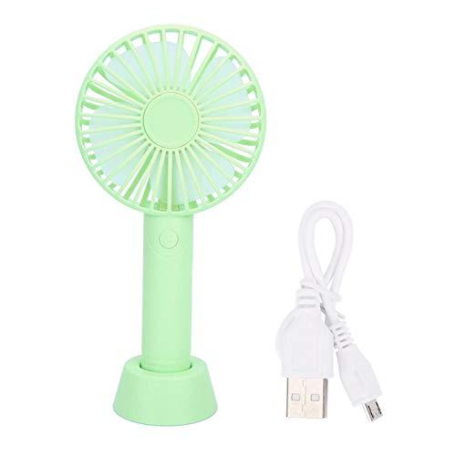 Qqmora Ventilador de Mano de Escritorio Alimentado por USB Suave y no Deslumbrante Dos ajustes para la Escuela 21,4 * 10,8 * 4,3 cm(Verde)