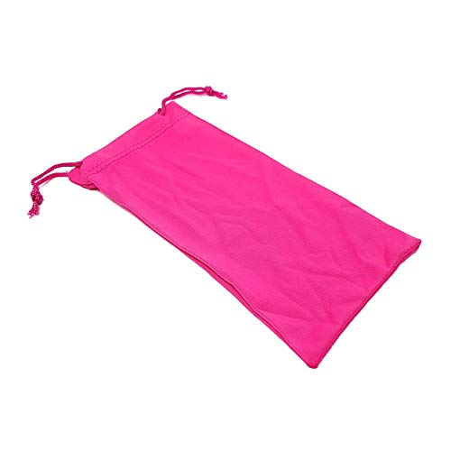 Soft Microfibre Sunglasses Case with Drawstring Hot Pink Pack of 1