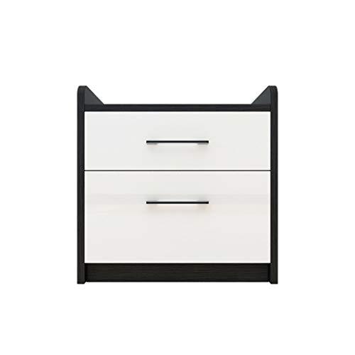 Nightstand GCX- Mesita de noche para dormitorio, mesita de noche, taquilla para sala de estar, sofá o sala de estar (color: blanco, tamaño: 40 x 40 x 50 cm)