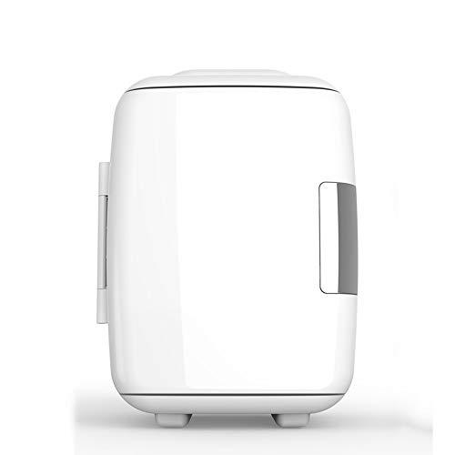 NYGJMNBX Mini-koelkast, draagbaar, compact, draagbaar, koelt en verwarmt 4 liter, 6 blikken met 12 golven, inclusief stekker voor stopcontact en autolader